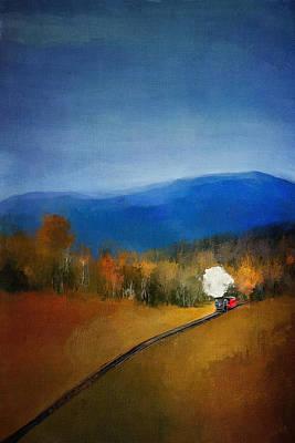 Linda King Digital Art - Old Steam Train 4157 by Linda King