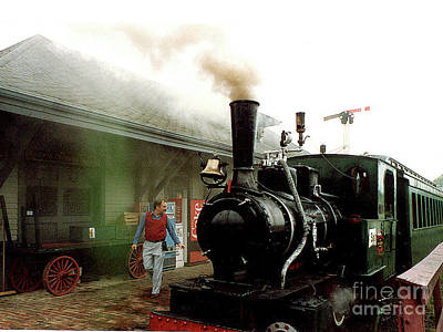 Photograph - Old Steam Train At Shelburne Vermont Station by Merton Allen