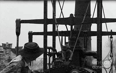 Photograph - Old Steam Train Driver by Doc Braham
