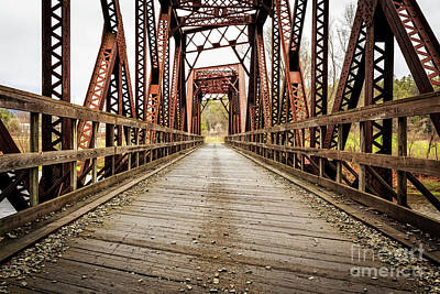 Old Steel Train Bridge Print by Edward Fielding