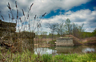 Photograph - Old Sterrett Creek Bridge by Linda Shannon Morgan