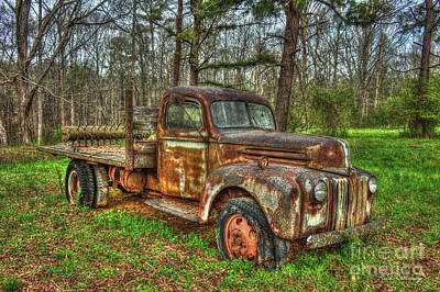 Photograph - Old Still Art 1947 Ford Stakebed Pickup Truck Ar by Reid Callaway
