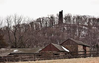 Photograph - Old Stone Barn And Tower by Val Arie