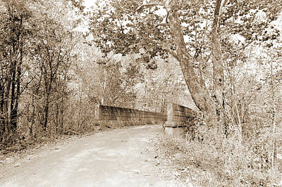 Photograph - Old Stone Bridge Across Creek by Gary Wonning