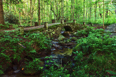 Abandoned Elkmont Wall Art - Photograph - Old Stone Bridge At Elkmont In Gatlinburg Tennessee And Smoky Mountains by Carol Mellema