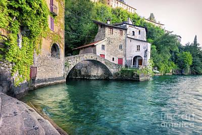 Photograph - Old Stone Bridge At The End Of Nesso's Ravine, Como by Alfio Finocchiaro
