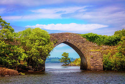 Photograph - Old Stone Bridge In Ireland by Debra and Dave Vanderlaan