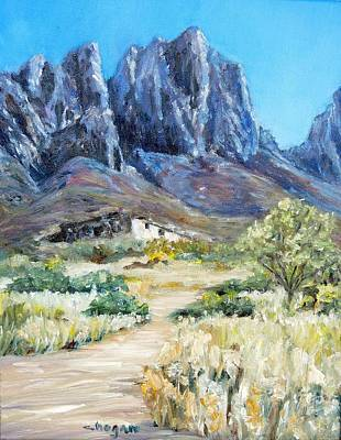 Las Cruces Painting - Old Stone Casa Organ Mountains by Candi Hogan