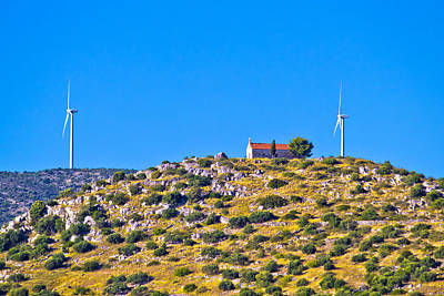 Photograph - Old Stone Church And Green Energy Plant by Brch Photography