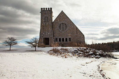 Mans Best Friend - Old Stone Church by Sue OConnor