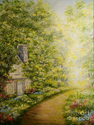 Painting - Old Stone Cottage by Leea Baltes