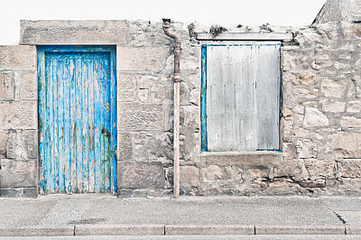 Boarded Up Photograph - Old Stone Cottage by Tom Gowanlock