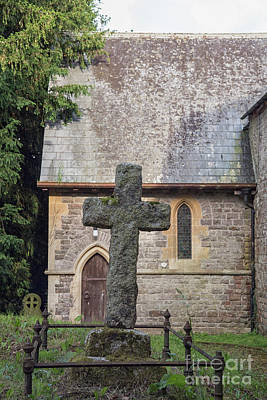 Photograph - Old Stone Cross by Patricia Hofmeester