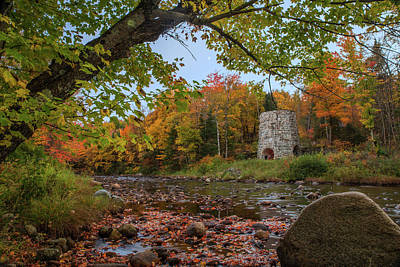 Photograph - Old Stone Furnace Autumn by Chris Whiton