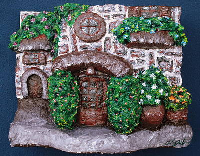 Chubbyart Painting - Old Stone House by Alison  Galvan