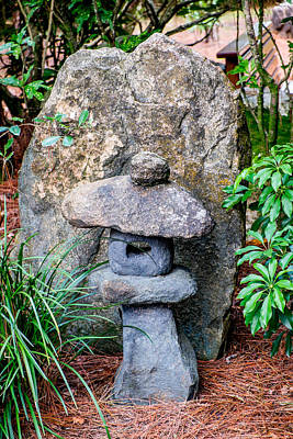 Photograph - Old Stone Lantern by Louis Ferreira