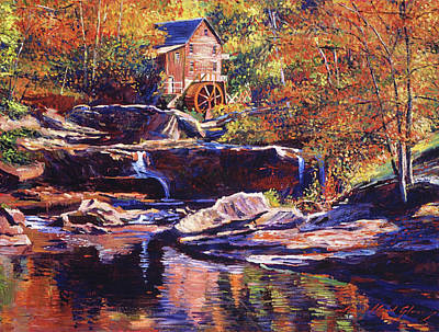 Painting - Old Stone Millhouse by David Lloyd Glover
