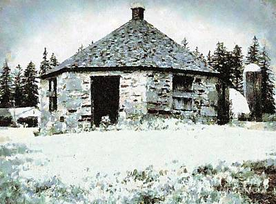 Photograph - Old Stone Schoolhouse In Winter - South Canaan by Janine Riley
