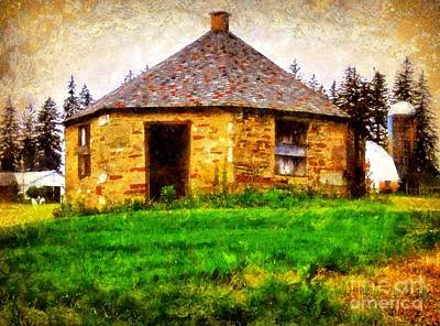 School Houses Photograph - Old Stone Schoolhouse - South Canaan by Janine Riley