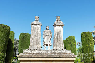 Photograph - Old Stone Statues Of The Christian Kings  In Cordoba Spain by Compuinfoto