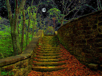 The Stone Staircase Original by Michael Rucker
