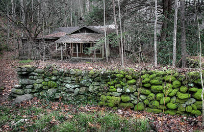 Hand-built Photograph - Old Stone Wall by Mike Eingle