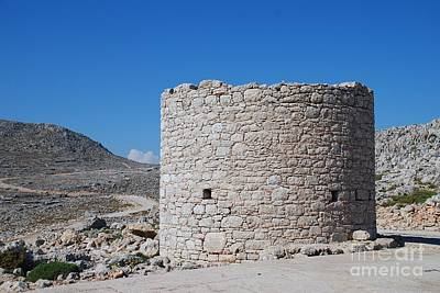 Photograph - Old Stone Windmill On Halki by David Fowler