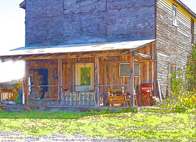 Open Impressionism California Desert Royalty Free Images - Old Store Front Royalty-Free Image by Susan Buscho