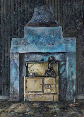 Painting - Old Stove by Marty Garland