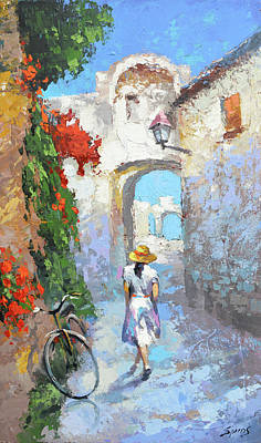 Painting - Old Street  by Dmitry Spiros