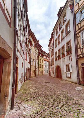 Photograph - Old Street In Little Venice, Colmar, Alsace, France by Elenarts - Elena Duvernay photo