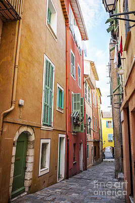 Emerald Coast Photograph - Old Street In Villefranche-sur-mer by Elena Elisseeva