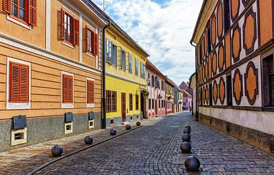Photograph - Old Street Of Baroque Town Of Varazdin, Croatia by Elenarts - Elena Duvernay photo