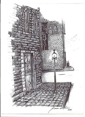 Drawing - Old Street by Ricardo Reis