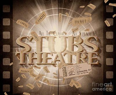 Digital Art - Old Stubs Theatre Advert by Jorgo Photography - Wall Art Gallery