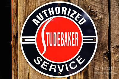 Photograph - Old Studebaker Sign by M G Whittingham