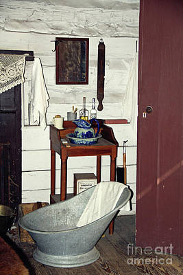 Photograph - Old Style Bathtub by Inspirational Photo Creations Audrey Woods