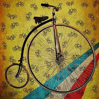 Bike Photograph - Old Style Bicycle by Bill Cannon