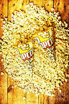 Spill Photograph - Old Style Popcorn Cones  by Jorgo Photography - Wall Art Gallery