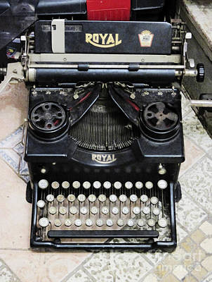 Old Style Royal Typewriter  Art Print by Ami Siano