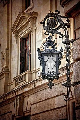 Old Style Street Lamp In Valencia Spain  Art Print
