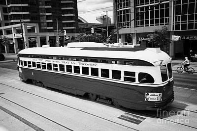 Old Style Toronto Transit System Ttc Tram Streetcar Ontario Canada Art Print