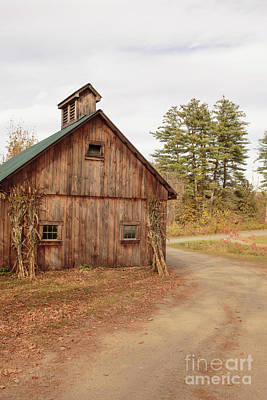 Photograph - Old Sugar Shack Farm Plainfield New Hampshire by Edward Fielding