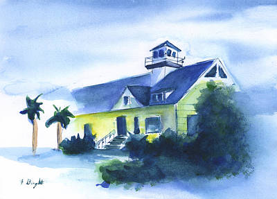 Painting - Old Sullivan Island Lighthouse by Frank Bright
