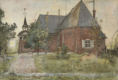 Painting - Old Sundborn Church. From A Home by Carl Larsson