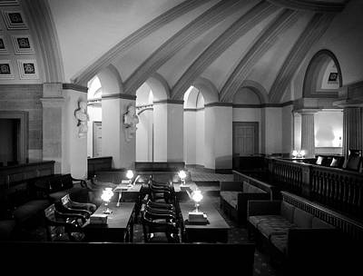 Photograph - Old Supreme Court Chamber In Black And White by Greg Mimbs