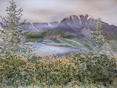 Old Susitna Lodge Art Print