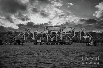 Photograph - Old Swing Bridge On Highway 41 Over The Wando River  by Dale Powell