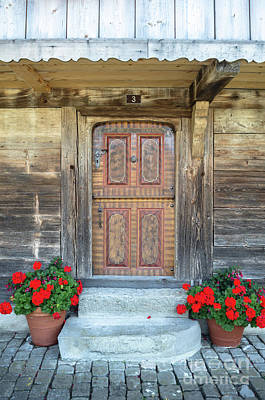 Photograph - Old Swiss Door by Michelle Meenawong