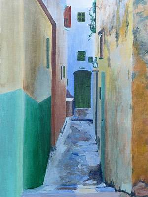 Worn Down Painting - Old Tangiers by Barbara Ebeling